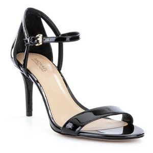 MICHAEL Michael Kors Black Patent Leather Sandals